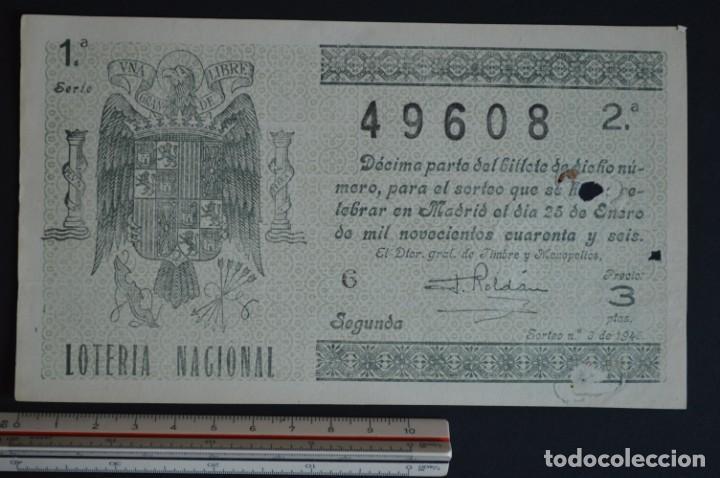 LOTERÍA NACIONAL. SORTEO Nº 3. 25 DE ENERO DE 1946. ROMANJUGUETESYMAS. (Coleccionismo - Lotería Nacional)