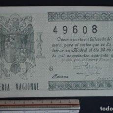 Lotería Nacional - Lotería Nacional. Sorteo Nº 3. 25 de enero de 1946. romanjuguetesymas. - 150666866