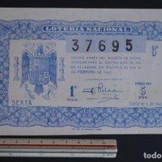 Lotería Nacional - Lotería Nacional. Sorteo Nº 5. 14 de febrero de 1946. romanjuguetesymas. - 150667418