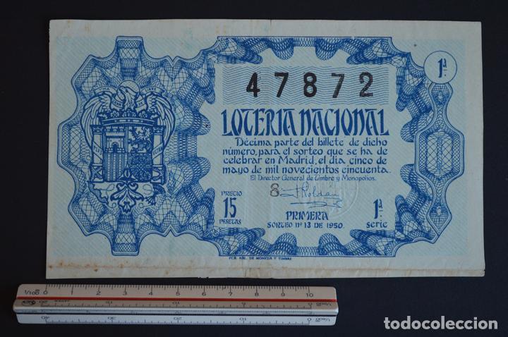 LOTERÍA NACIONAL. SORTEO Nº 13. 5 DE MAYO DE 1950. ROMANJUGUETESYMAS. (Coleccionismo - Lotería Nacional)