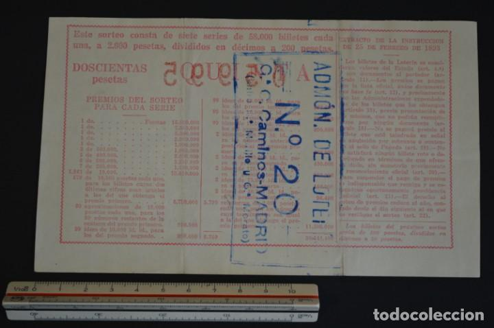 Lotería Nacional: Lotería Nacional. Sorteo Nº 36. 22 de diciembre de 1954. romanjuguetesymas. - Foto 2 - 151117910