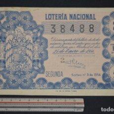 Lotería Nacional - Lotería Nacional. Sorteo Nº 3. 25 de enero de 1956. romanjuguetesymas. - 151131738