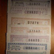 Lotería Nacional: LOTERÍA NACIONAL - LOTE 9 DÉCIMOS AÑO 1930 - SORTEOS Nº 5, 6, 15, 16,19, 27,28, 32 Y 34 BUEN ESTADO. Lote 151409638