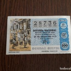 Lotería Nacional: DÉCIMO LOTERÍA NACIONAL DE DIA 27-01-79 PORTEADORES CHINOS. SORTEO 4/79. Lote 151651490