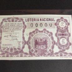 Lotería Nacional: LOTERIA 1947 SORTEO 8 NUMERACIÓN 00000. Lote 151870786