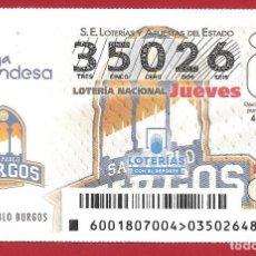 Lotería Nacional: 2018 LOTERÍA NACIONAL CON JUEVES Y SÁBADOS. Lote 151882766