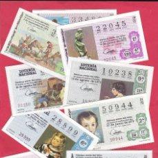 Lotería Nacional: LOTERIA NACIONAL AÑO COMPLETO 1972 40 DECIMOS. Lote 154390982