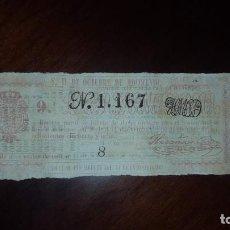 Lotería Nacional: BILLETE DE LOTERÍA Nº 1167 - 28 DE OCTUBRE DE 1858. Lote 154565454