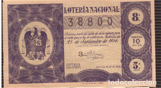 8 PAPELETAS DE LOTERIA MUY ANTIGUA LA QUE VES (Coleccionismo - Lotería Nacional)