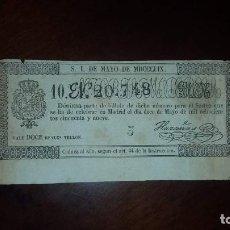 Lotería Nacional: BILLETE DE LOTERÍA Nº 20748 - 12 DE MAYO DE 1859. Lote 154721958
