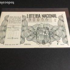 Lotería Nacional: LOTERIA DE 1947 SORTEO 26 CON NUMERACION 00000. Lote 154851810