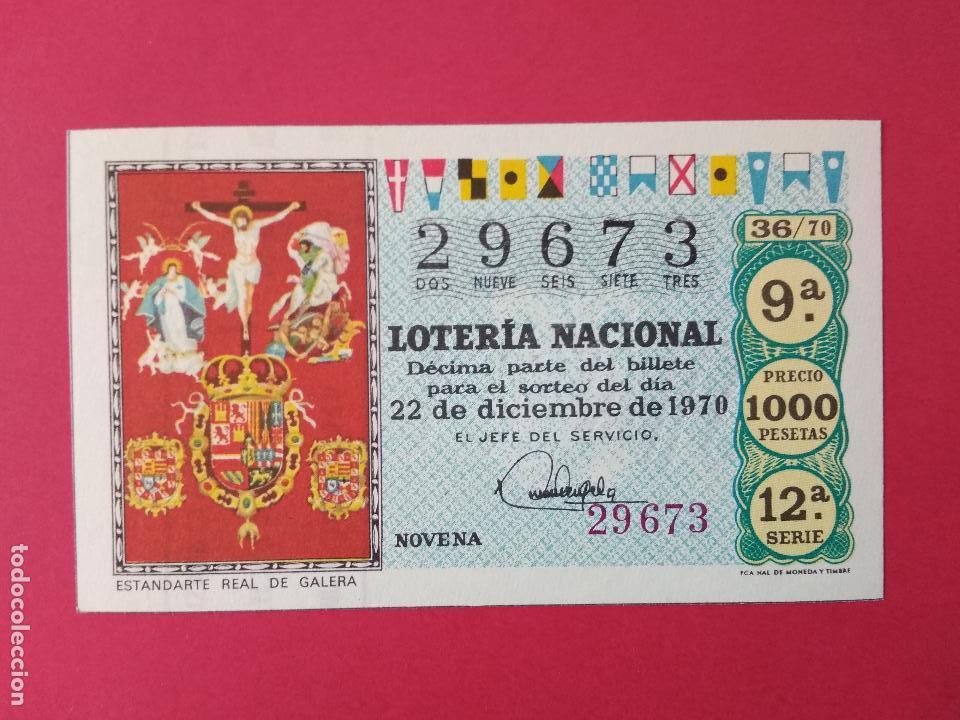 DECIMO DE LOTERIA NACIONAL AÑO 1970 SORTEO Nº 36 (Coleccionismo - Lotería Nacional)