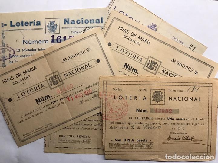 LOTERÍAS. SURTIDO PAPELETAS, PARTICIPACIONES LOTERÍA DE NAVIDAD (A.1933-1939) (Coleccionismo - Lotería Nacional)