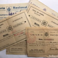 Lotería Nacional: LOTERÍAS. SURTIDO PAPELETAS, PARTICIPACIONES LOTERÍA DE NAVIDAD (A.1933-1939). Lote 156771353