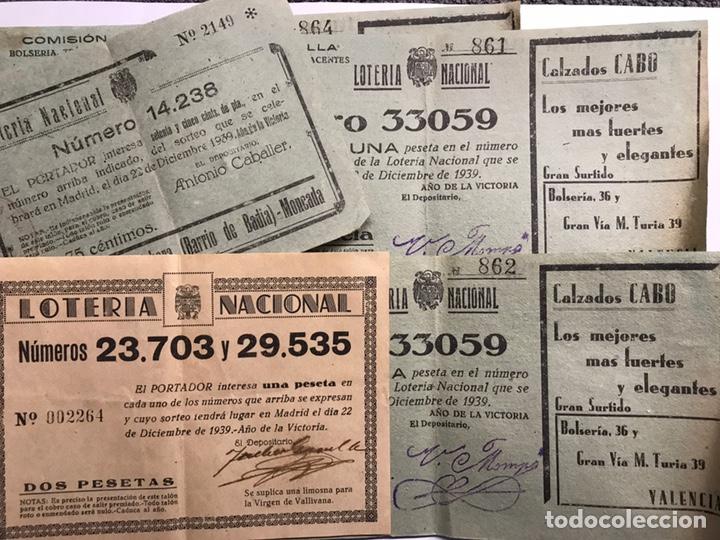 LOTERÍAS. (4)!SURTIDO PAPELETAS, PARTICIPACIONES LOTERÍA DE NAVIDAD (A.1933-1939) (Coleccionismo - Lotería Nacional)