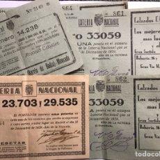 Nationale spanische Lotterie - LOTERÍAS. (4)!Surtido papeletas, participaciones Lotería de Navidad (a.1933-1939) - 156772212