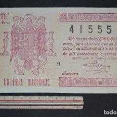 Lotería Nacional: LOTERÍA NACIONAL. SORTEO Nº 3. 25 DE ENERO DE 1946. ROMANJUGUETESYMAS.. Lote 157087006