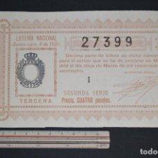 Lotería Nacional: LOTERÍA NACIONAL. SORTEO Nº 8. 12 DE MARZO DE 1928. ROMANJUGUETESYMAS.. Lote 157097946