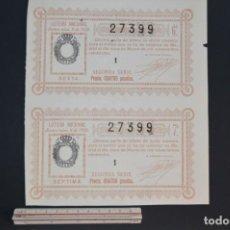 Lotería Nacional: LOTERÍA NACIONAL. SORTEO Nº 8. 12 DE MARZO DE 1928. ROMANJUGUETESYMAS.. Lote 157100158