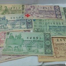 Lotería Nacional: 20 DÉCIMOS DE LOTERÍA NACIONAL AÑO 1963. Lote 157706408