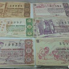 Lotería Nacional: 20 DÉCIMOS DE LOTERÍA NACIONAL AÑO 1963. Lote 157707449