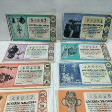 Lotería Nacional: 20 DÉCIMOS DE LOTERÍA NACIONAL AÑO 1961. Lote 158526648