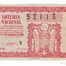 Lotería Nacional: LOTERIA 1959 SORTEO 2. Lote 158677834