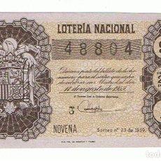 Lotería Nacional: LOTERIA 1959 SORTEO 23. Lote 158679714