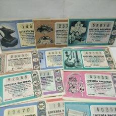 Lotería Nacional: DECIMOS DE LOTERIA NACIONAL DEL AÑO 1961. Lote 159046237