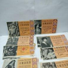 Lotería Nacional: DECIMOS DE LOTERIA NACIONAL AÑO 1960. Lote 159047054