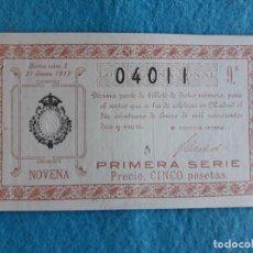 Lotería Nacional: DÉCIMO. SORTEO Nº 3 DE 1919.. Lote 159838982