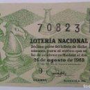 Lotería Nacional: LOTERÍA NACIONAL. AÑO 1963. SORTEO 24. Lote 160597706