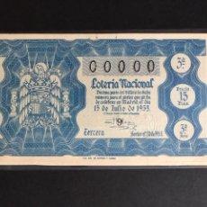 Lotería Nacional - Loteria Año 1953 sorteo 20 - 160875386