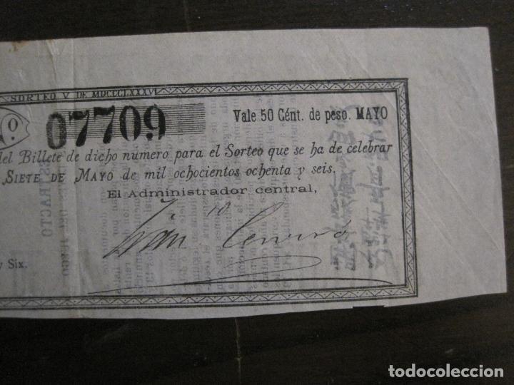 Lotería Nacional: REAL LOTERIA FILIPINA-MANILA-DECIMA PARTE BILLETE-AÑO 1886-VER FOTOS-(V-16.443) - Foto 3 - 161273074