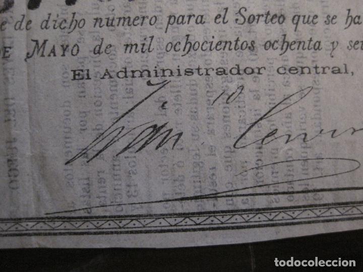 Lotería Nacional: REAL LOTERIA FILIPINA-MANILA-DECIMA PARTE BILLETE-AÑO 1886-VER FOTOS-(V-16.443) - Foto 5 - 161273074