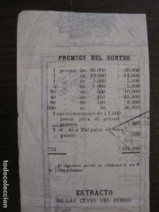 Lotería Nacional: REAL LOTERIA FILIPINA-MANILA-DECIMA PARTE BILLETE-AÑO 1886-VER FOTOS-(V-16.443) - Foto 9 - 161273074