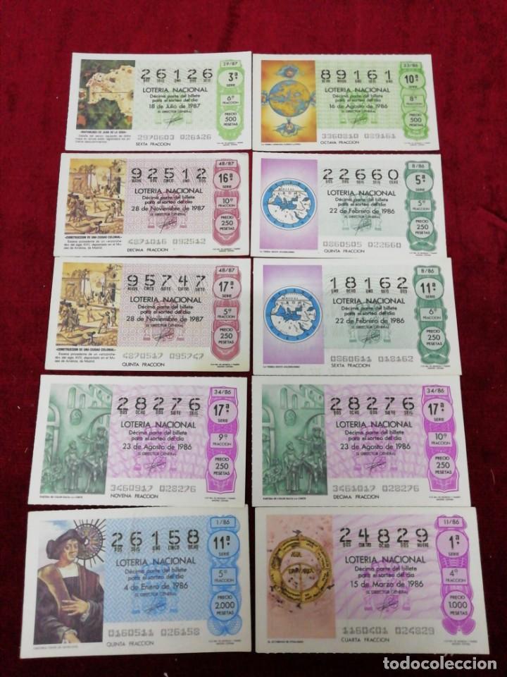 LOTE 10 DÉCIMOS LOTERÍA NACIONAL. AÑO 1986 (Coleccionismo - Lotería Nacional)
