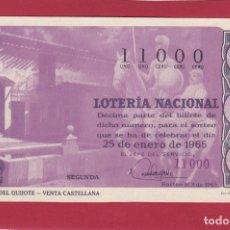 Lotería Nacional: LOTERIA SORTEO 3 RUTA DEL QUIJOTE VENTA CASTELLANA. Lote 164030054