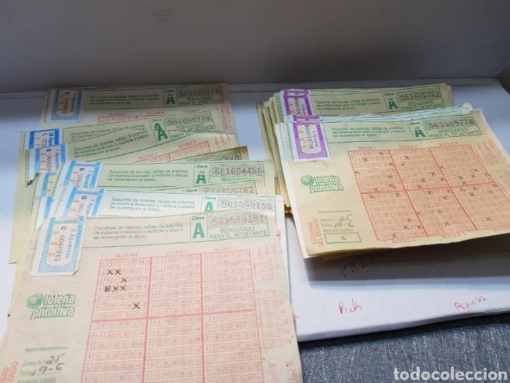 BOLETOS PRIMITIVA ANTIGUOS LOTE MÁS DE 55 (Coleccionismo - Lotería Nacional)