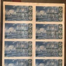 Lotería Nacional: LOTERIA NACIONAL SORTEO 2 DE 1965 RUTA DEL QUIJOTE EL TOBOSO BILLETE. Lote 165547930