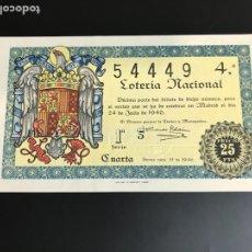 Lotería Nacional: LOTERIA AÑO 1946 SORTEO 21. Lote 165943769