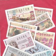 Lotería Nacional: LOTERIA NACIONAL AÑO 1971 SABADOS COMPLETO 40 DECIMOS. Lote 166330218