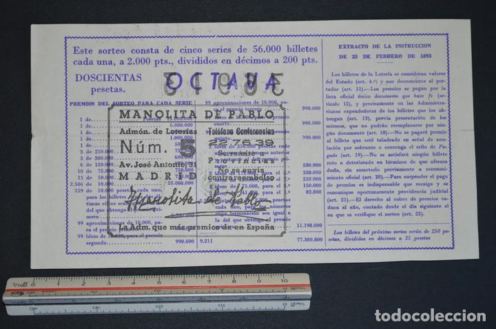 Lotería Nacional: Lotería Nacional. Sorteo Nº 36. 22 de diciembre de 1949. romanjuguetesymas. - Foto 2 - 166704106