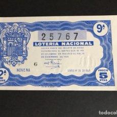 Lotería Nacional: LOTERIA AÑO 1945 SORTEO 35. Lote 166720606