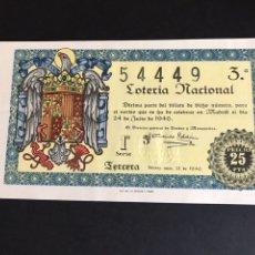 Lotería Nacional: LOTERIA AÑO 1946 SORTEO 21. Lote 166807033
