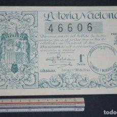 Loterie Nationale: LOTERÍA NACIONAL. SORTEO Nº 30. 23 DE OCTUBRE DE 1944. ROMANJUGUETESYMAS.. Lote 167317296
