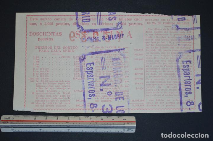 Lotería Nacional: Lotería Nacional. Sorteo Nº 36. 22 de diciembre de 1954. romanjuguetesymas. - Foto 2 - 168488448