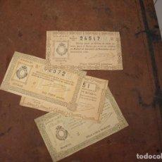 Lotería Nacional: 4 DECIMOS LOTERIA NACIONAL 1907. Lote 169945668