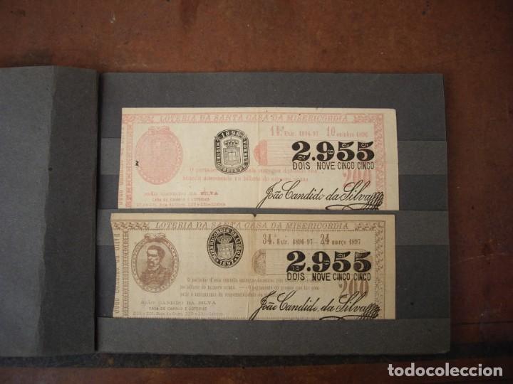 LOTERIA DA SANTA CASA DA MISERICORDIA PORTUGAL 8 NUMEROS DE 1893 HASTA 1903 (Coleccionismo - Lotería Nacional)