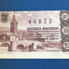 Lotería Nacional: LOTERIA AÑO 1962 SORTEO 35. Lote 170422700